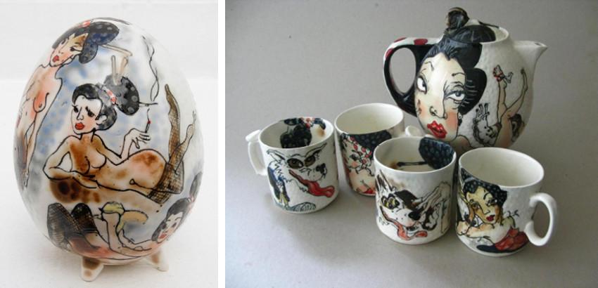 Skuja Braden - Nude Egg, 2014 - Sexy Teapot Set, 2015