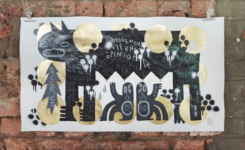 creative graphic designer like to make black paintings for world day
