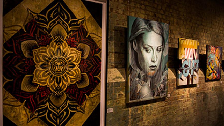 Street art in gallery