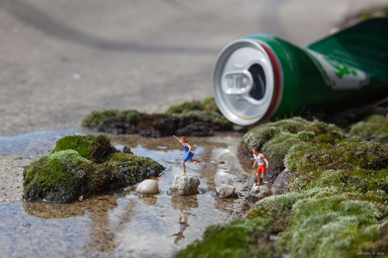 street art, installation, Slinkachu, outdoors