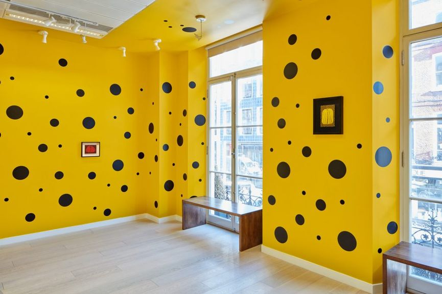 Small Pumpkin Paintings by Yayoi Kusama; the show will be accompanied by various events