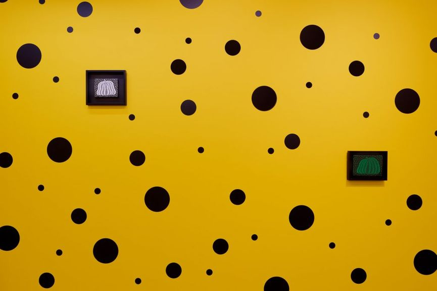 Small Pumpkin Paintings by Yayoi Kusama; her infinity room was exhibited in 2016 in the museum