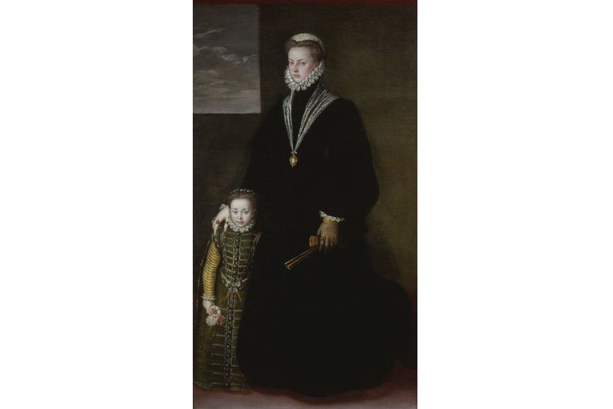 Sofonisba Anguissola - Juana of Austria and a Young Girl, 1561-62