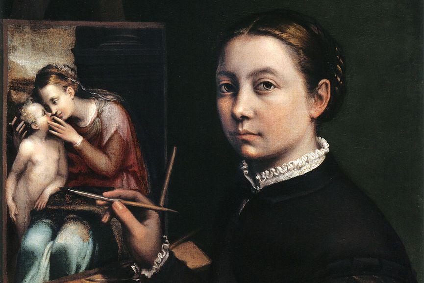 Sofonisba Anguissola - Self-Portrait, 1556 (detail)