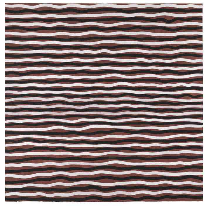 Sol LeWitt-Black And White Horizontal Lines On Color-2005