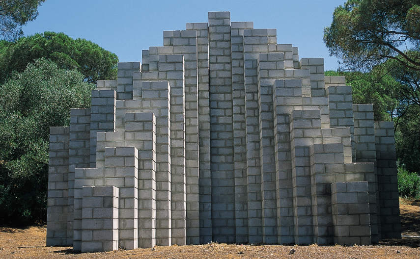 Sol LeWitt - Cinderblock, photo credits fundacionmac.org work artist artists form museum paper modern