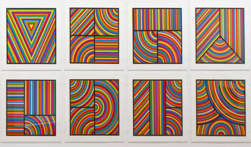 Sol LeWitt - Color Bands, 2000, photo credits blogs.uoregon.edu work artist artists form museum paper modern