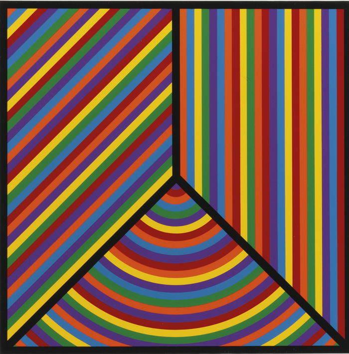 Sol LeWitt-Color Bands, Plate #1-2000