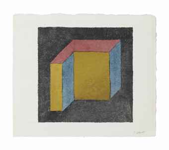 Sol LeWitt-Form Derived from a Cube-1983