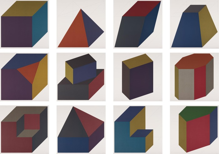 Sol LeWitt-Forms Derived from a Cube (Colors Superimposed)-1991