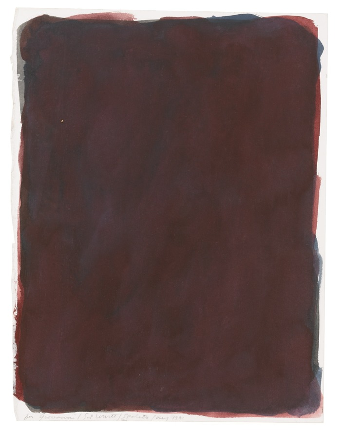Sol LeWitt-Gouache With Colors Superimposed-1991