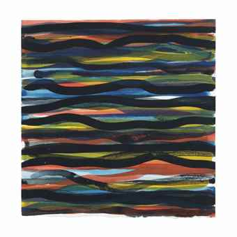 Sol LeWitt-Horizontal Brushstrokes-1992