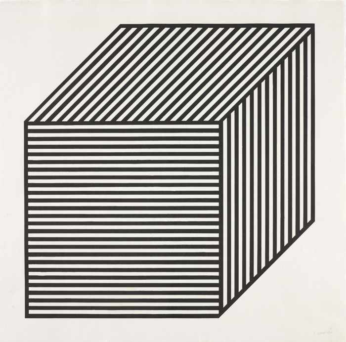 Sol LeWitt-Plate #01, from Five Forms Derived from a Cube-1982