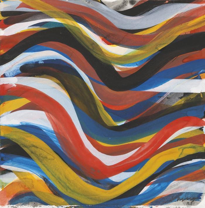 Sol LeWitt-Wavy Brushstrokes-1995