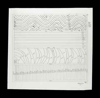 Sol LeWitt-Working Drawing for Wall Drawing, Embassy Suites, Battery Park City, New York-1999