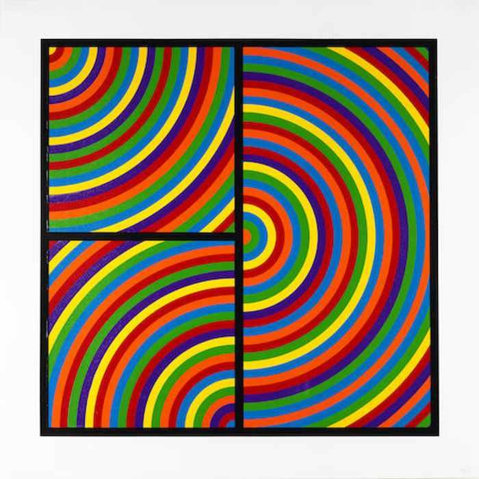 Sol LeWitt-Color Bands, Plate #04-2000