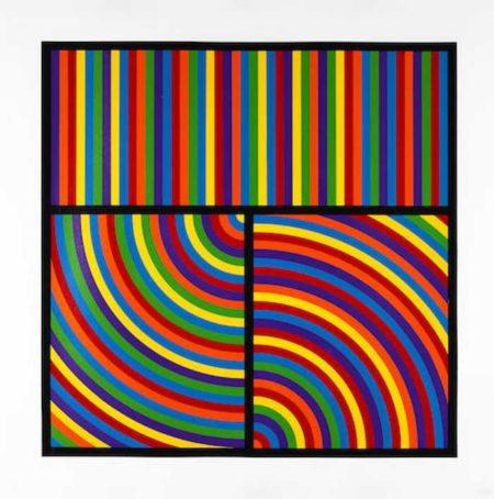 Sol LeWitt-Color Bands, Plate #5-2000