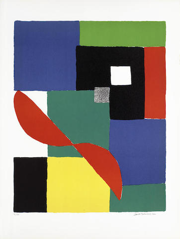 Sonia Delaunay-Helice Rouge-1970