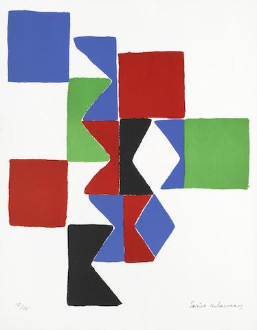 Sonia Delaunay-Hommage a Tzara-1975
