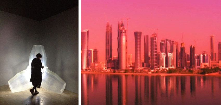 Sophia Al-Maria search for digital news and work near her home in Qatar has been productive.