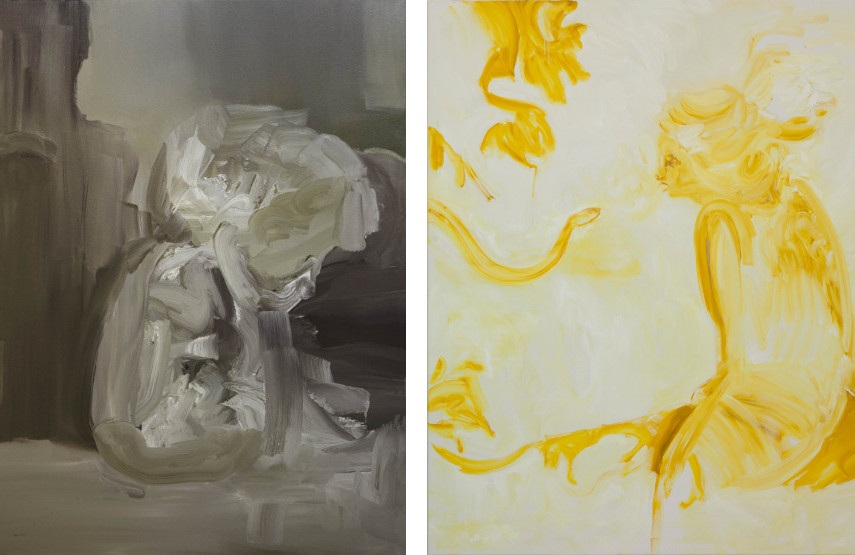 Sophie Milner - Child Self Waiting (left) ---- Golden Girl (right)