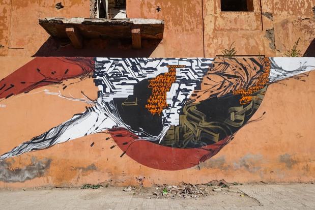 Sowat, Lek and Liard – Contrebande, Guéliz Mural at Marrakech, Maroc