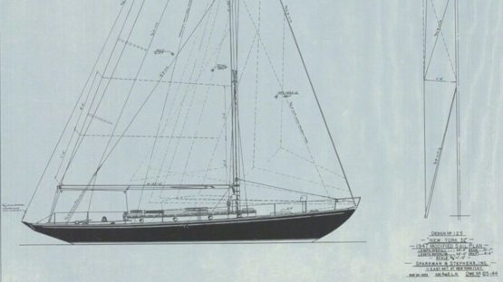 Sparkman Stephens - Design No 125 1947 Modified Sail Plan, 1980 (detail)