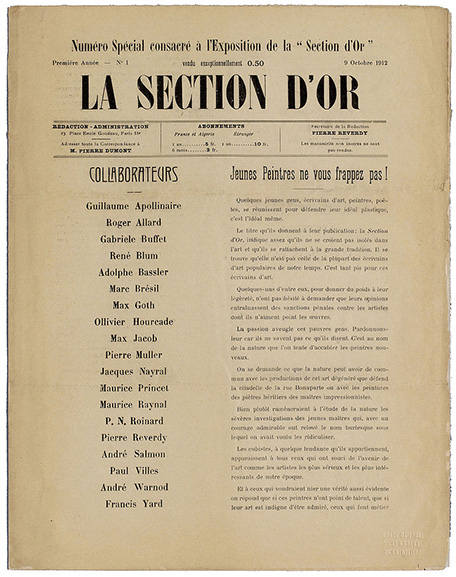 Special issue dedicated to the exhibition of La Section d'Or 1912