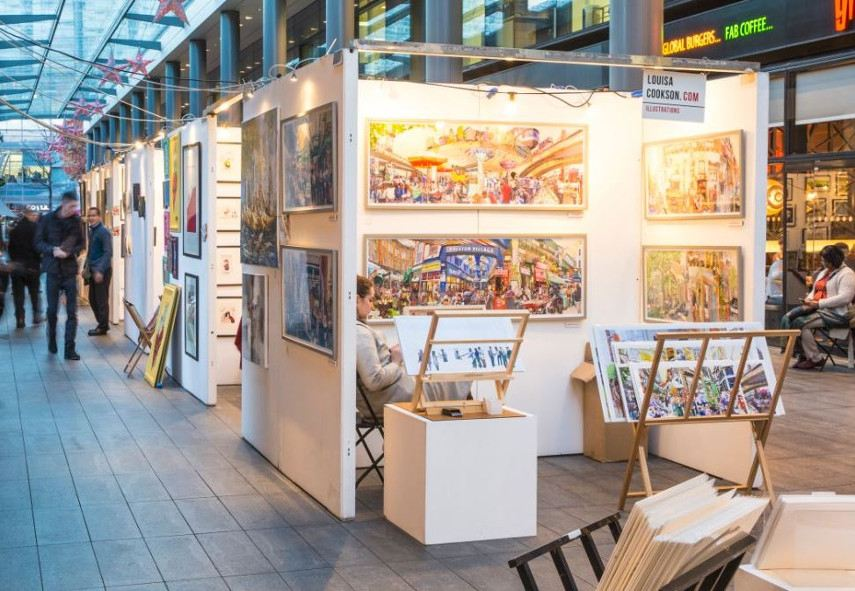 Spitalfields Arts Market, East London, the home of buyers in the money business