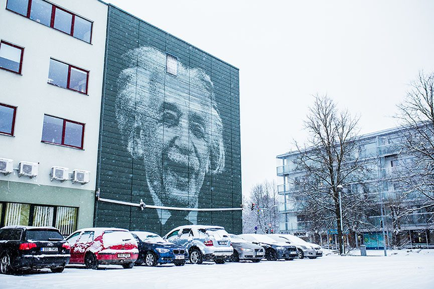 SprayPrint Mural Einstein
