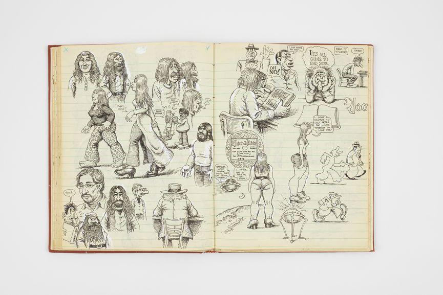 Spread from R. Crumb, Sketchbook, 1971