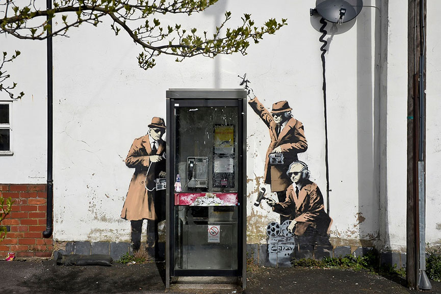 banksy spy booth house