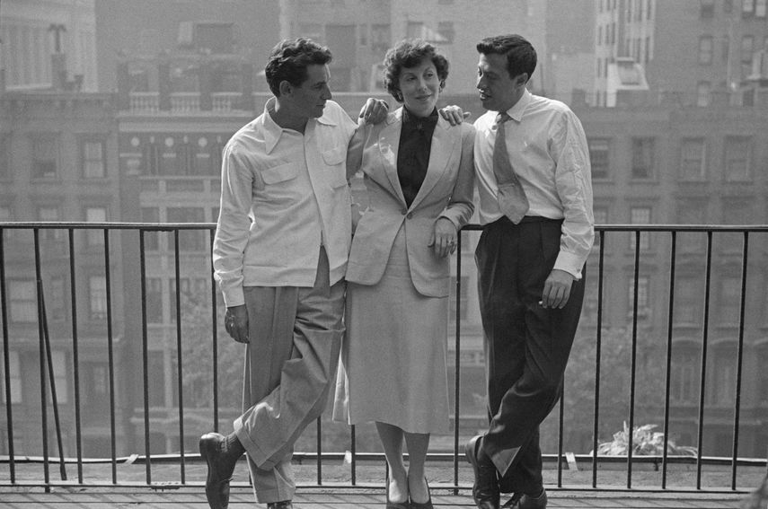 Leonard Bernstein with Betty Comden and Adolph Green from Leonard Bernstein, 1950
