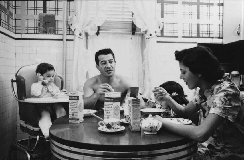 Stanley Kubrick - Rocky Graziano with his family from Rocky Graziano: He's a Good Boy Now, 1950