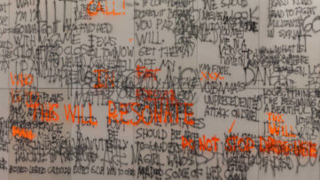 Stefan Brüggemann - Headlines and Last Lines in the Movies -Fluorescent- detail 2014