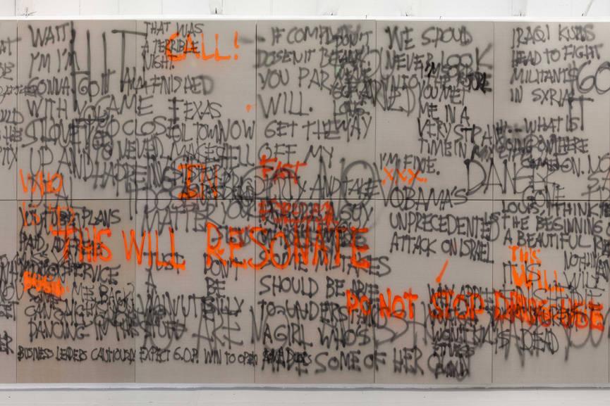 Stefan Brüggemann - Headlines and Last Lines in the Movies -Fluorescent- detail 2014