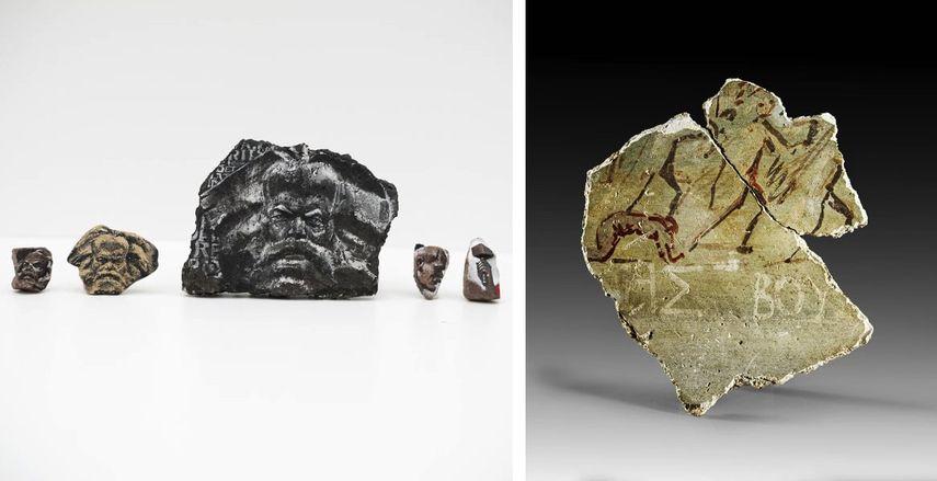 Stephane Levallois - Fragments D, idoles, 2019, Galerie David Ghezelbash, Fragment D un Mur Peint S.le