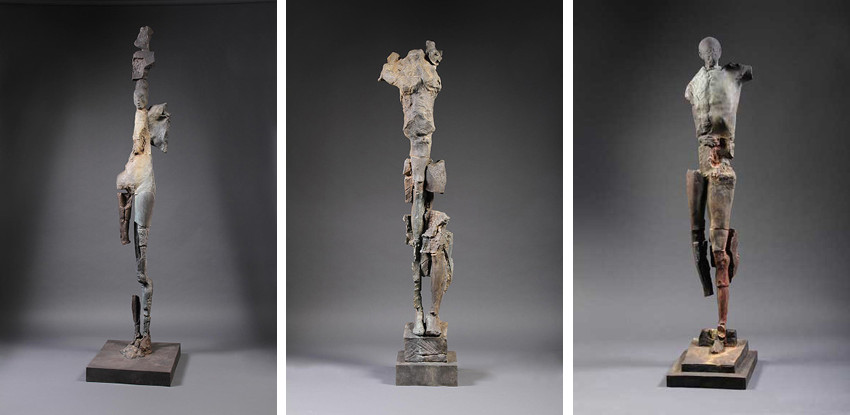Stephen De Staebler - Figure with Crown, 2010 - Figure with Two Found Legs, 2010 - Man with Broad Chest, 2010