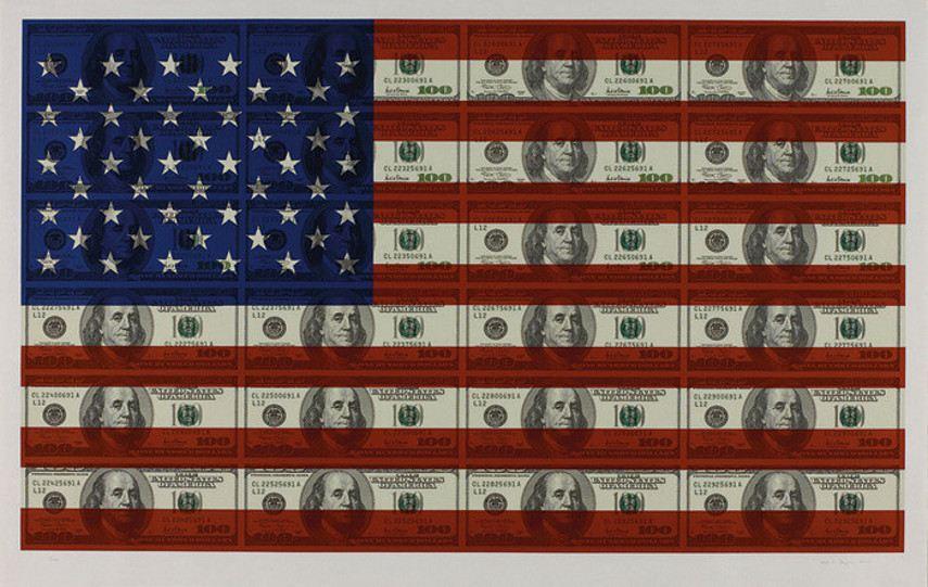 Steven Gagnon - $100 Texas Flag, 2004