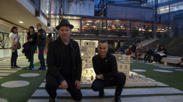 Steven P Harrington and Jaime Rojo of Brooklyn Street Art