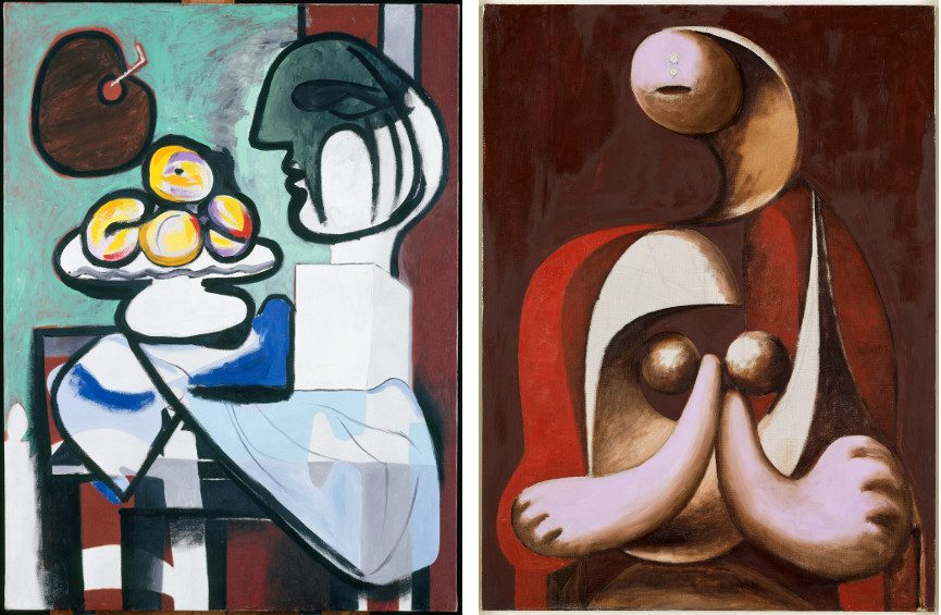 Still Life Bust, Bowl, and Palette (MP140) Pablo Picasso / Woman Sitting in a Red Armchair (MP139) Pablo Picasso