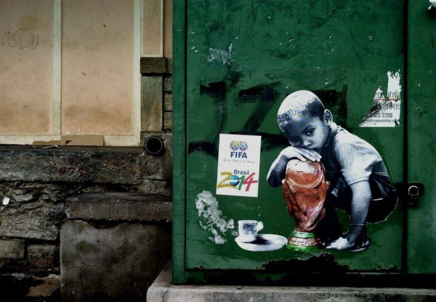 Brazil, 2014, graffiti, fifa, Rio de Janeiro