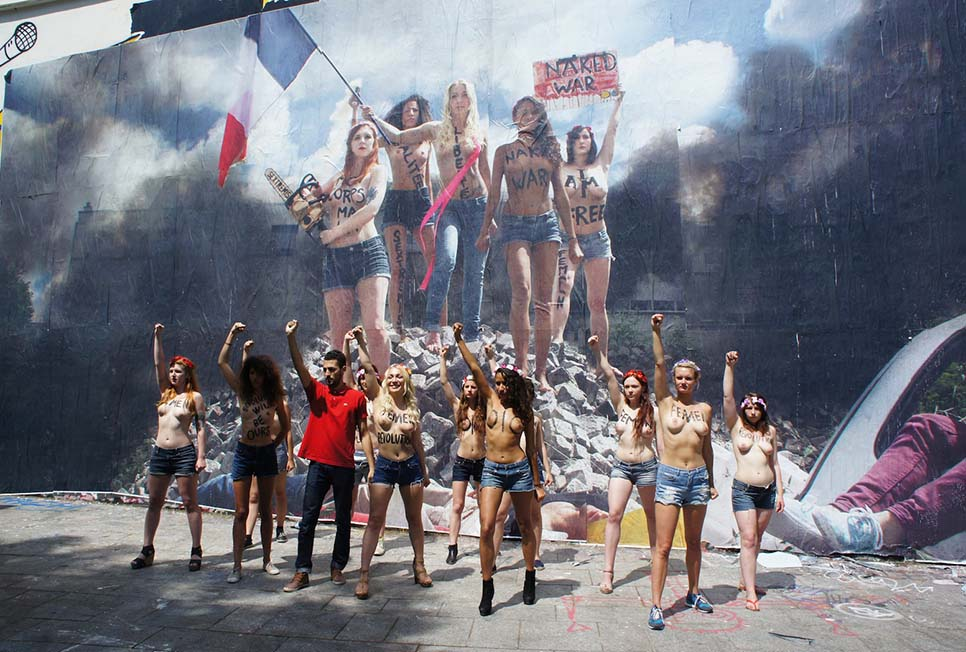 March 8th - Street Artist Combo with members of FEMEN group