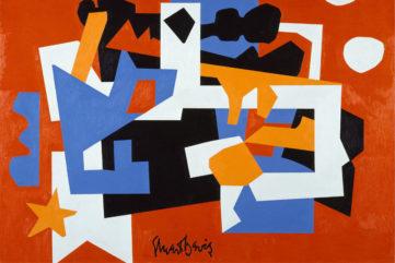 Stuart Davis 1892–1964 (detail) - Colonial Cubism 1954 - Oil on canvas - Walker Art Center, Minneapolis - Gift of the T