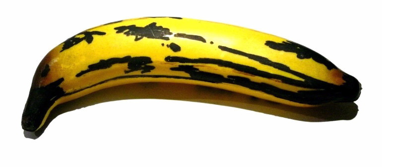 Stuart Semple - Andy Warhol 80th Birthday banana, 2008, news like work 2011 just