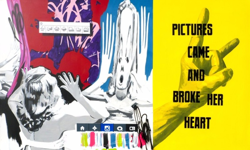 Stuart Semple - Pictures Came and Broke Her Heart, 2015, work 2011