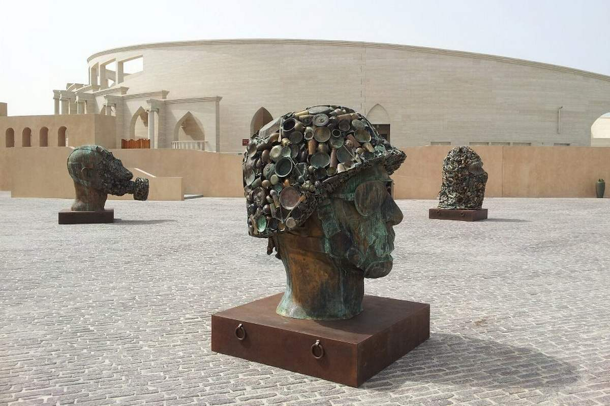 Subodh Gupta - Gandhi's Three Monkeys. Courtesy Qatar Museums Doha