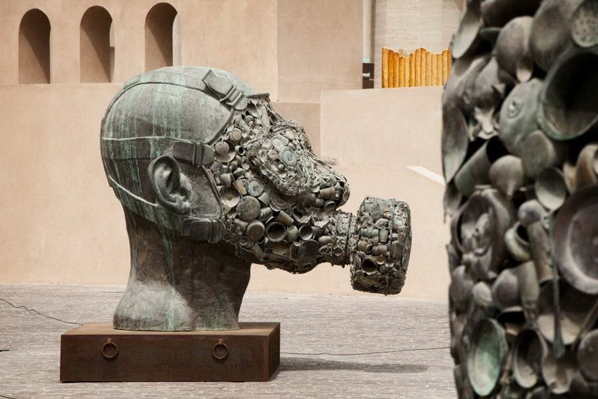 Subodh Gupta - Gandhi's Three Monkeys