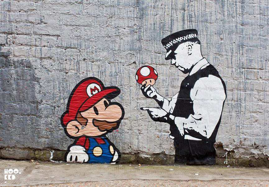 Video game street art