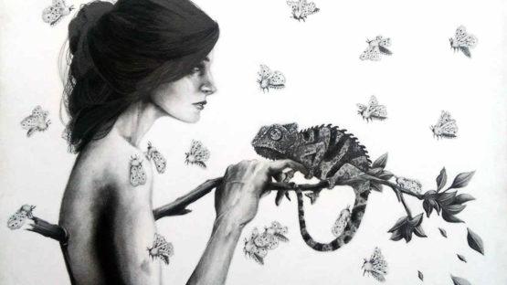 Susannah Kelly - Chameleon (detail)